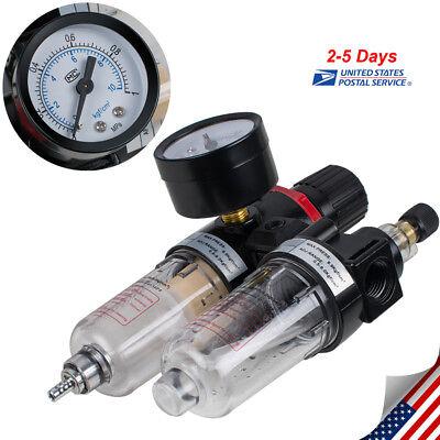 14 Air Compressor Oil Water Regulator Filter Pressure Gauge Moisture Trap Usa