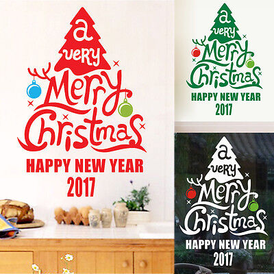 Christmas Tree Shop Decal Window Wall Art Decoration Stickers Home Decor 40*60CM