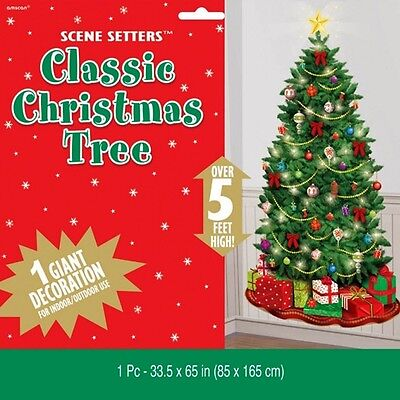 EE SCENE SETTER PARTY WALL DECORATION LIGHT BAUBLES GIFTS (Tree Scene Setter)