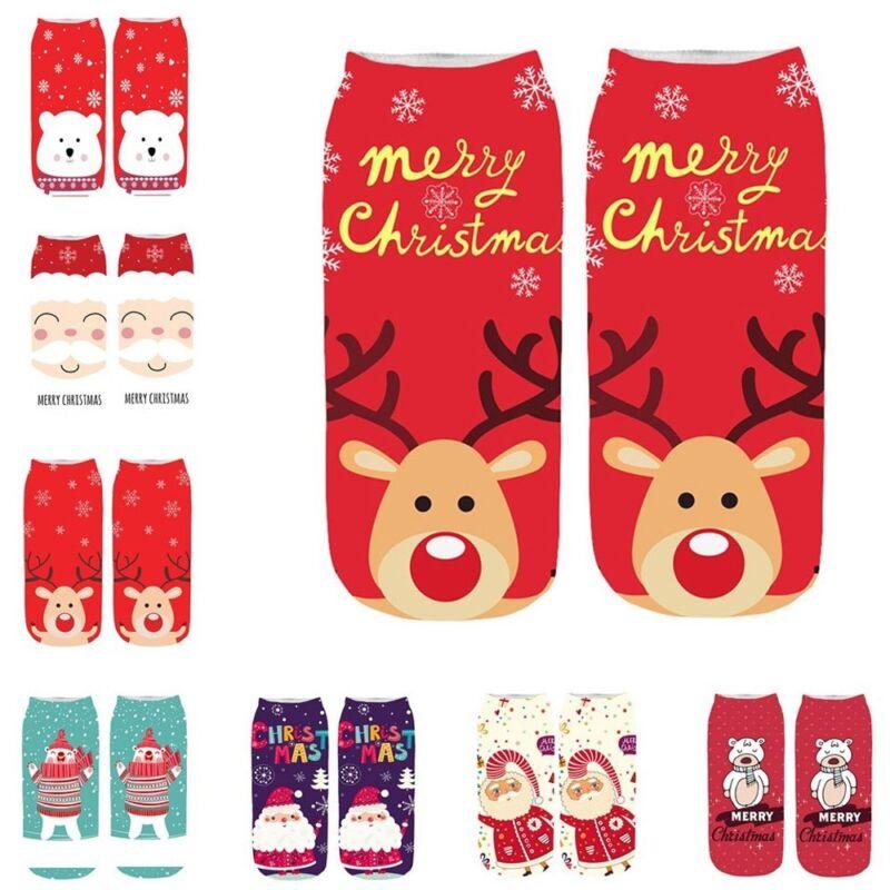 Xmas Women Winter Socks Christmas Warm Ankle Sock Snowflake Deer Comfortable