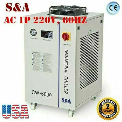 Cw-6000 Industrial Water Chiller For 100w Solid-state Laser22kw Cnc Spindle