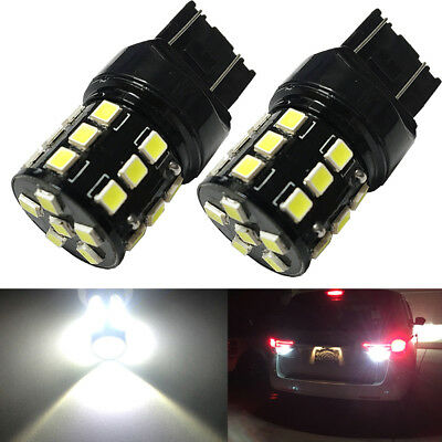 6000K White High Power LED 7440 W21W Backup Reverse Light Bulbs