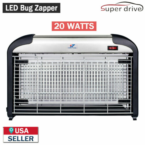 20W UV LED Light Electric Bug Zappers Insect Killer Fly Moth Mosquito Killer