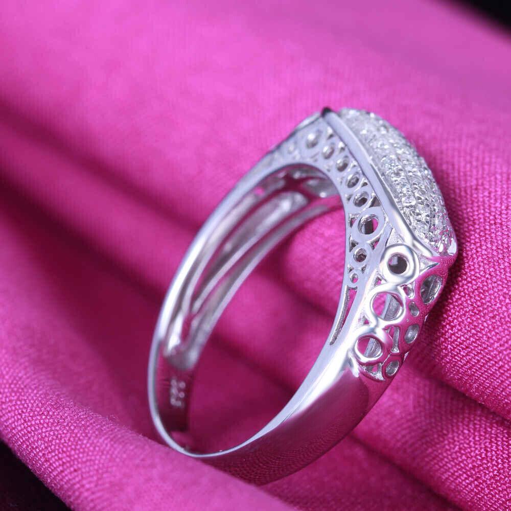 PAVE DIAMOND10K WHITE GOLD ANTIQUE/VINTAGE ENGAGEMENT WEDDING MEN\'S ...