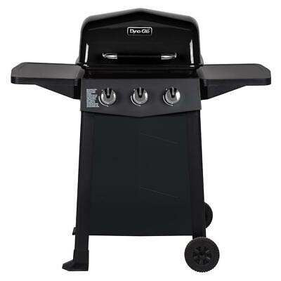 Dyna-Glo Propane Gas Grill 3-Stainless Steel Burners Open Cart in Black Burners Gas Smoker