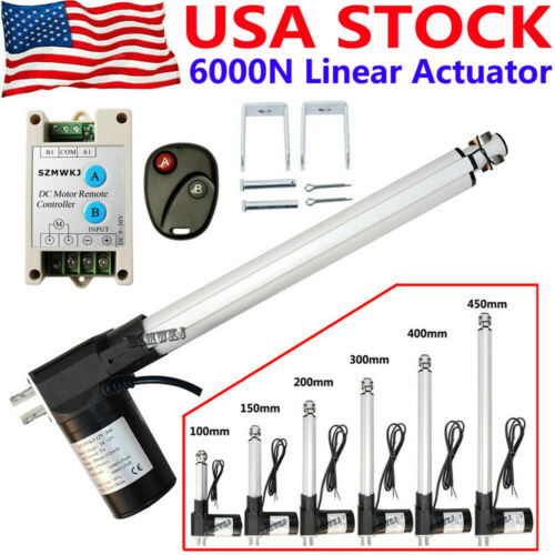 Electric 6000N 1320lbs Lift Heavy Duty DC12V Linear Actuator W/ Motor Controller