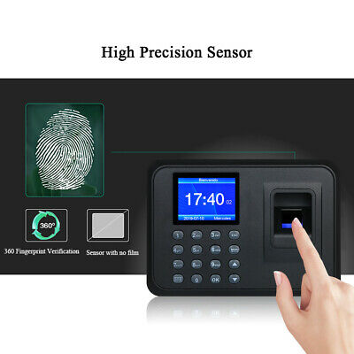 Biometric 2.4lcd Attendance Machine Fingerprint Password Time Clock Reader J0j1