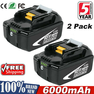 2Pack 18V 18 Volt 6.0Ah Battery for Makita LXT BL1830 BL1850 BL1860 LITHIUM ION