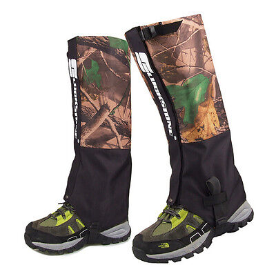 1 Pair Camo Waterproof Ankle Snow Gaiter Hiking Hunting Walking Leg Wrap Outdoor