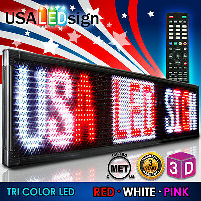 Led Sign 3color 41x15 Rwp Programmable Scrolling Outdoor Message Display Open