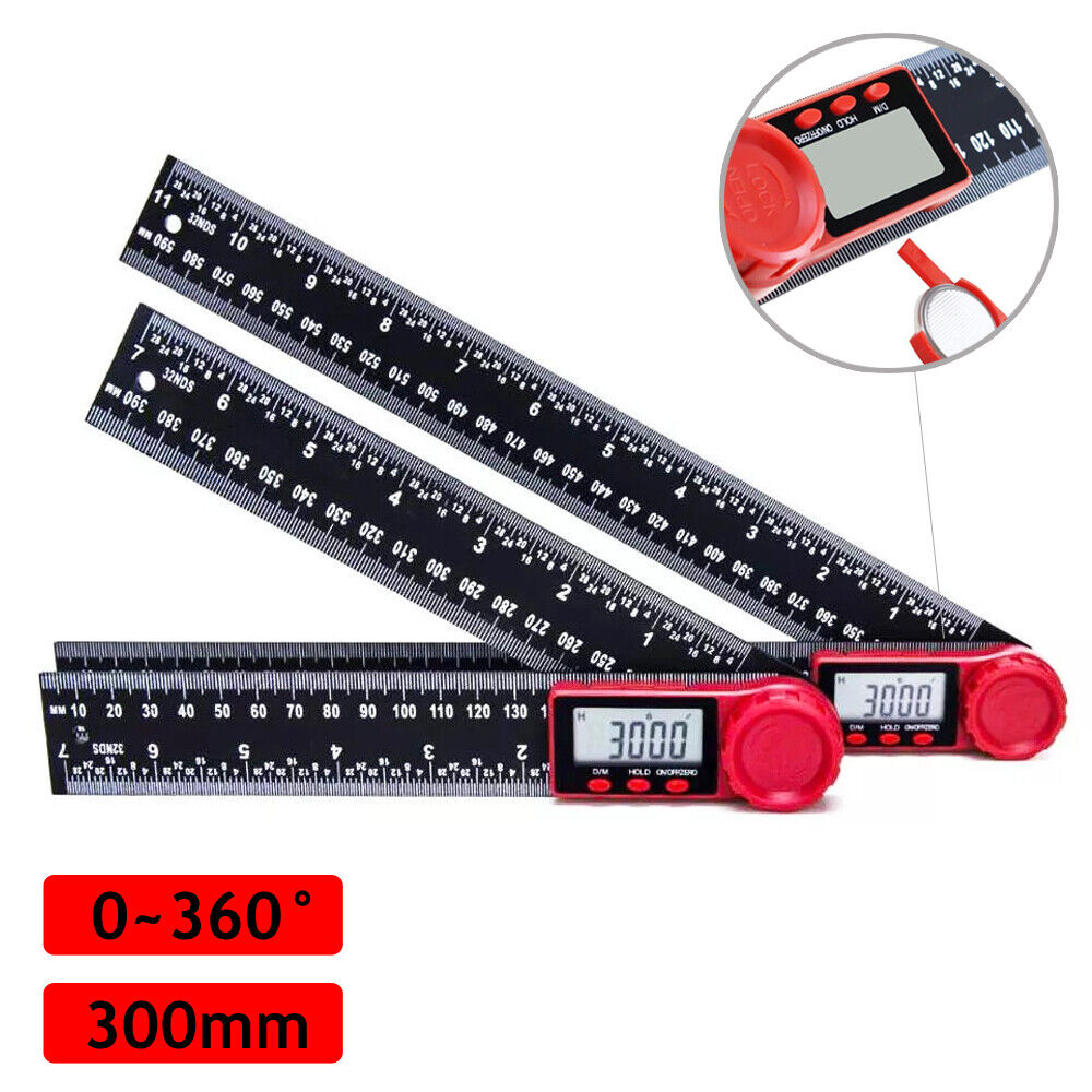 8″ Electronic LCD Digital Angle Finder 300mm Protractor Ruler Goniometer Business & Industrial