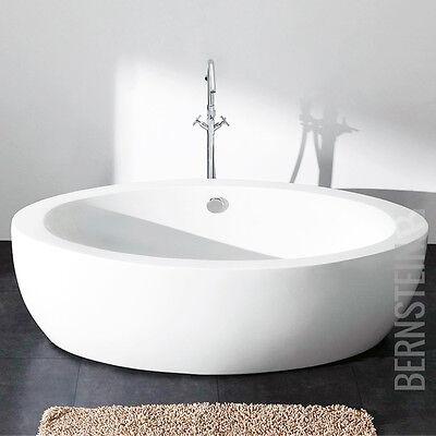 Design Badewanne Freistehende Wanne Acryl Nahtlos weiß  185 x 91 cm