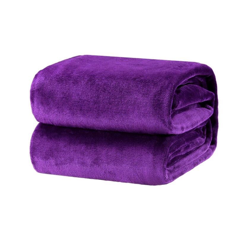 Home Coral Velvet Soft Warm Fleece Blanket Throw Rug Sofa Bed Throwover 100*140