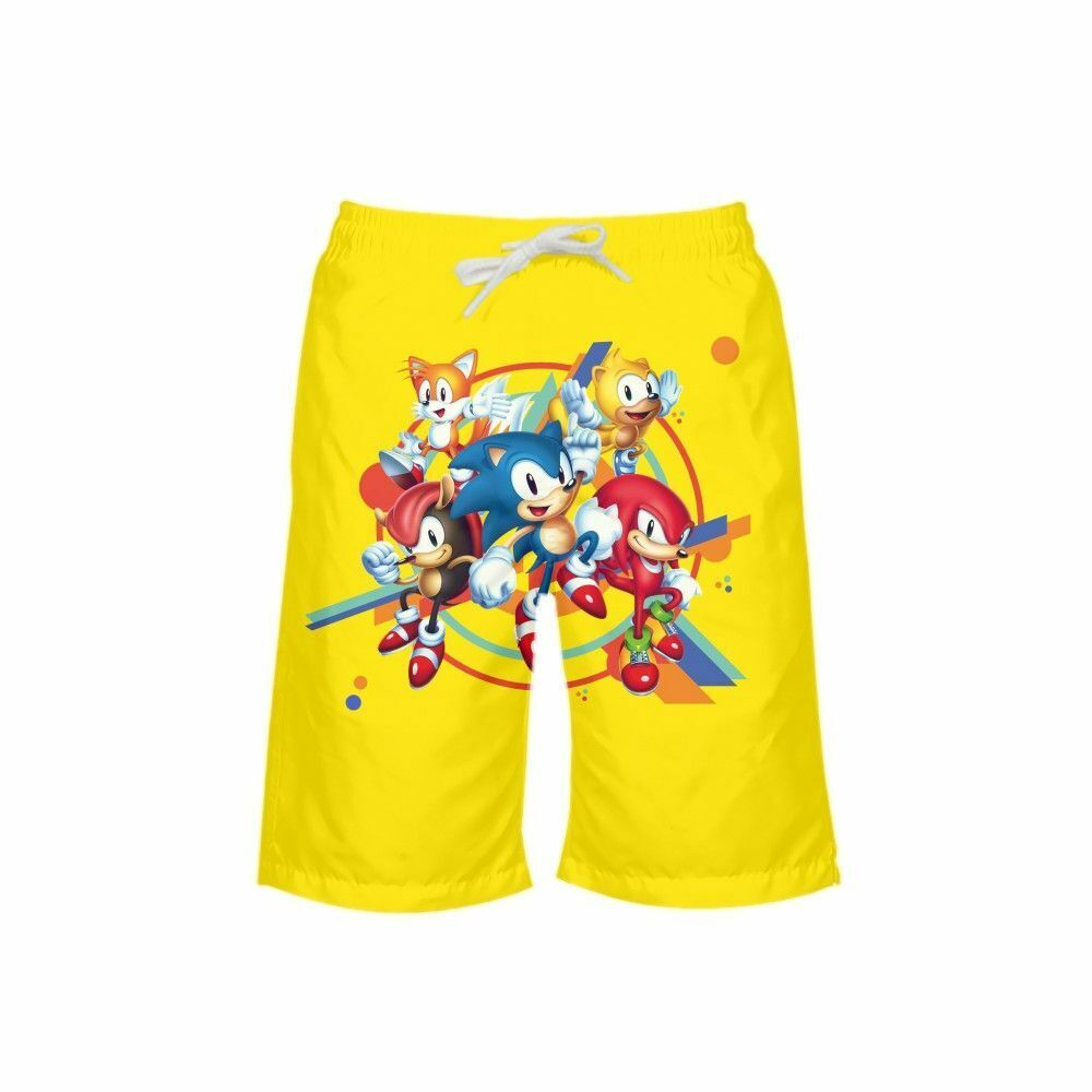 Mens Swim Trunks Hedgehog and Mouse Quick Dry Beach Board Shorts with Mesh Lining
