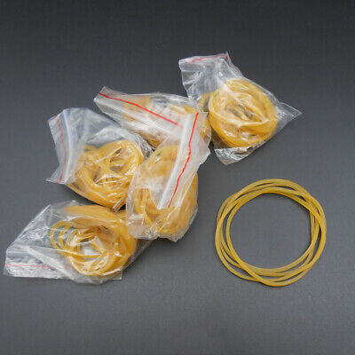 50pcs Rubber Band Drive Belt Pulley Model Motor Diy Toys 1.5mm X 55mm Yellow New