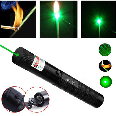 Powerful Military 532nm 303 Green Laser Pointer Pen Burning Beam Charger FAST