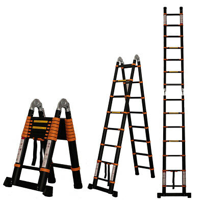 12.5ft 14.5ft 16.5ft Aluminum Multi-purpose Telescopic Ladder Extension Foldable