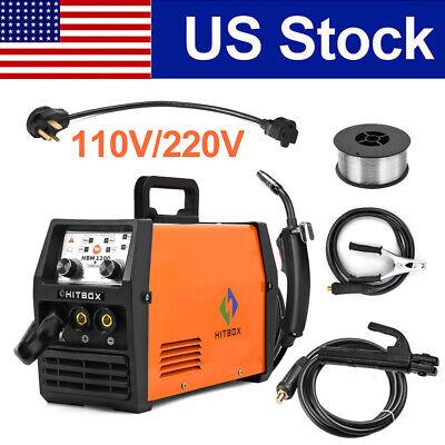 3in1 Mig Welder 110v 220v Dc Stick Arc Lift Tig Mig Welding Machine Wflux Core