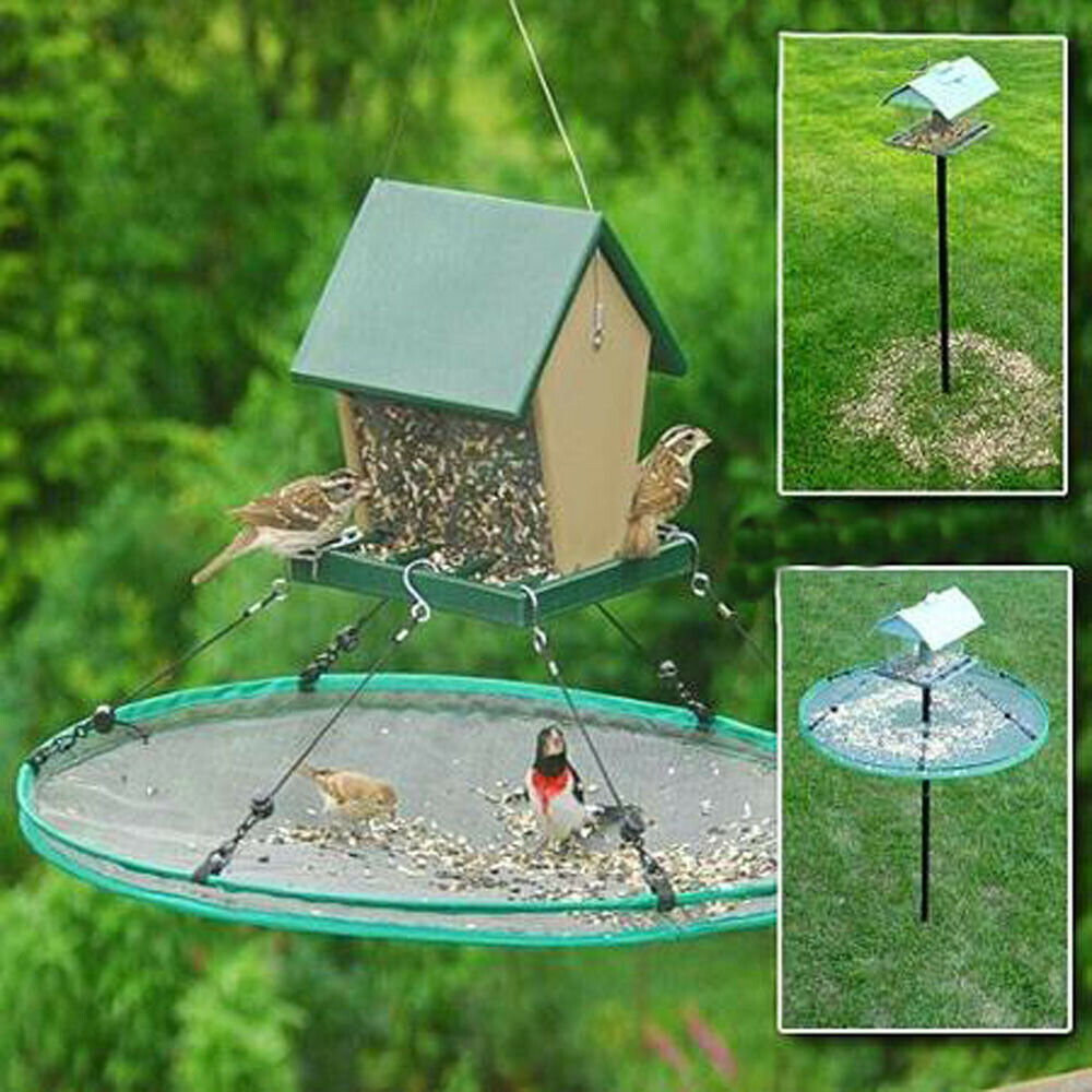Bird Feeder Seed Catcher Save Bird Seed for Hanging or Pole