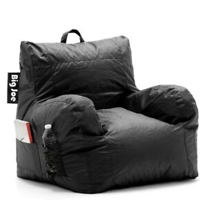 Black Bean Bag Chair Couch Comfortable Apartment Dorm Bedroom Living Room