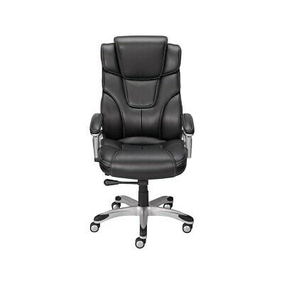 Staples Baird Bonded Leather Managers Chair Black 937975