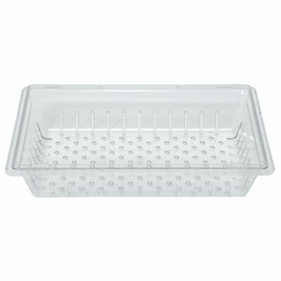 Hubert Food Storage Box Colander Clear Plastic - 26