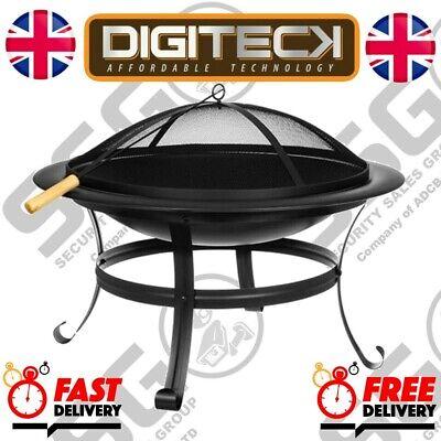 Fire Pit BBQ Firepit Brazier Bowl Garden Round Log Burner Patio Heater Ambiance