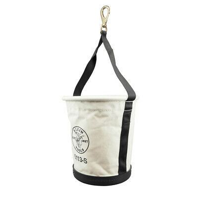 Klein Tools 5113s Tapered-wall Bucket With Swivel Snap Hook Canvas