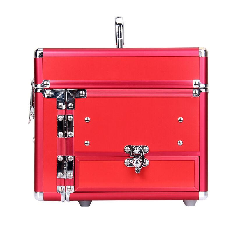 Professional Aluminum Makeup Train Case Jewelry Box Cosmetic Cases Organizer