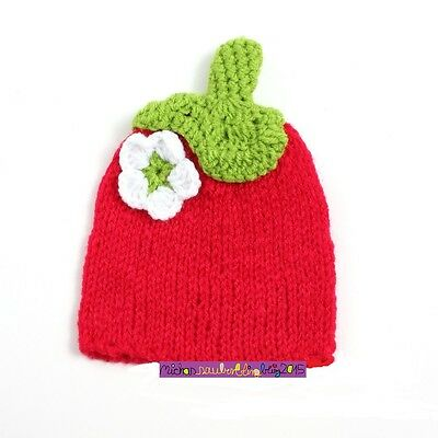 Fotoshooting Neugeborene Baby Kostüm Erdbeere Fotografie Foto - Shooting Mütze