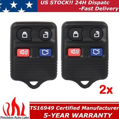 2x Replacement Car Key Fob Remote For Ford Mustang 2005 2006 2007 2008 2009 2010
