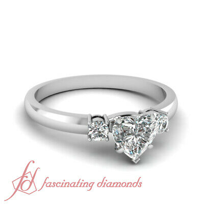 .55 Ct Heart Shaped Diamond Bewitched Lattice Engagement Ring VS2-F Color GIA
