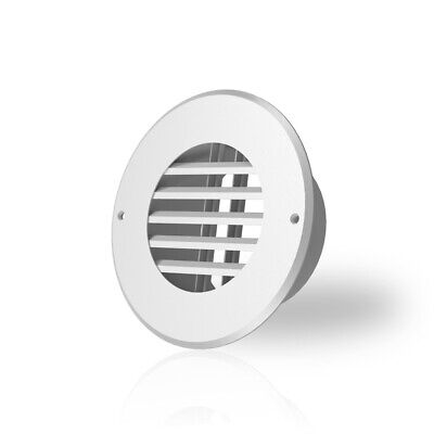 Wall-mount Duct Grille Vent For Heating Cooling Ventilation White Steel 4-inch