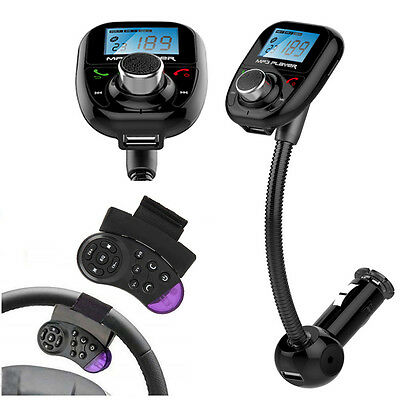 Car Kit MP3 Player FM Transmitter Wireless Bluetooth Radio Adapter USB Charger