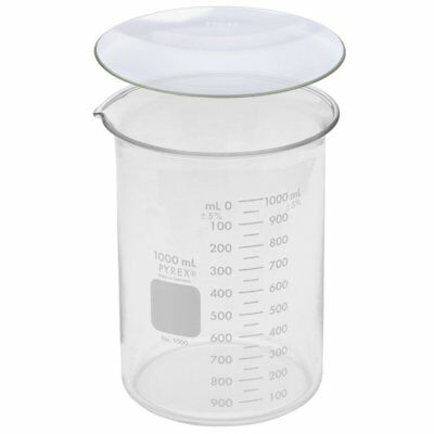 Corning Pyrex 1000-1l 1000ml Beaker With 125mm Watch Glass