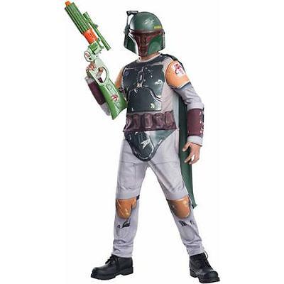 Children's Boba Fett Costume (NEW Star Wars BOBA FETT Boys Costume The Force Awakens Dress Up Childs)