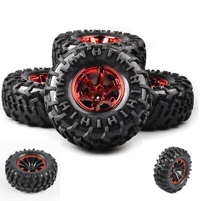 Bigfoot Tires&Wheel 12mm Hex 4Pcs 130mm 1:10 For RC Monster Truck Climbing Car