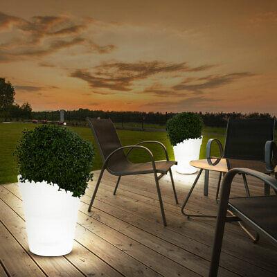 2 x LED SOLAR Leuchte Terrasse Blumen Töpfe AUßEN Deko Lampen Garten Beleuchtung