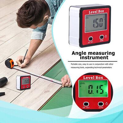 Digital Inclinometer Level Box Protractor Angle Finder Gauge Bevel Meter Us