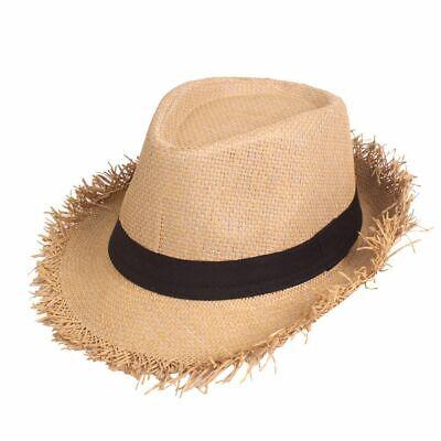 Travel Topee Round Summer Hats Cowboy Stylish Braided Sunshades Wear Cap For Men Stylish Straw Cowboy Hat