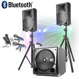 Active Powered PA Speaker Sound System for Mobile DJ Disco Setup 12
