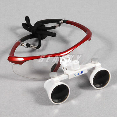3.5x Dental Surgical Binocular Loupes Magnifier Glasses 420mm For Led Head Light