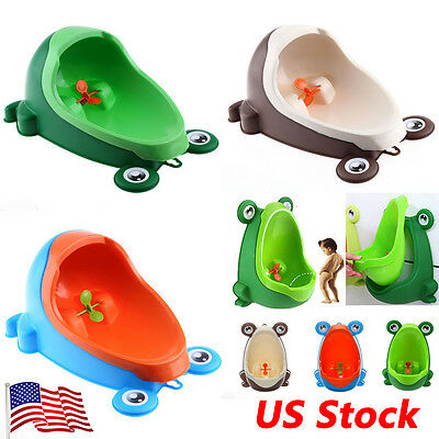 Frog Kids Children Toddler Boy Baby Potty Toilet Training Urinal Pee Bathroom