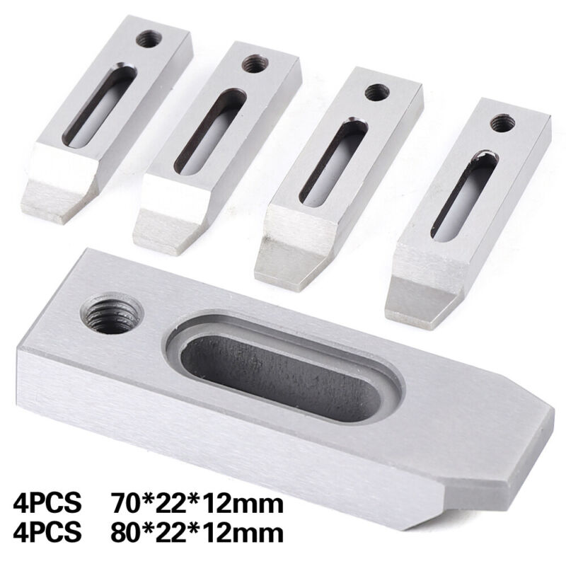 4x Wire EDM Fixture Board Stainless Jig Clamping&Leveling 70*22*12mm/ 80*22*12mm