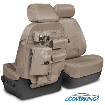 NEW Custom-Fit Tactical Ballistic Tan Seat Covers w/MOLLE Backing USA-MADE
