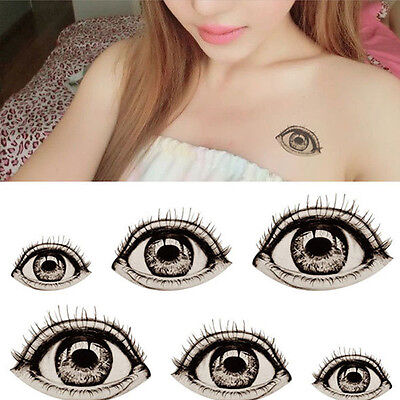Halloween Big Eyes Tattoo Sticker Temporary Body Art DIY Unisex Fake Waterproof