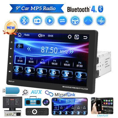 "9"" Car Radio Apple/Andriod Carplay BT Car Stereo Touch Screen MP5 Single 1Din"