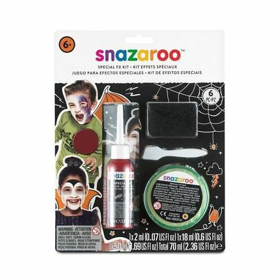 SNAZAROO Special Effects FX Kit HALLOWEEN Blood Wax Face Paint Sponge Spatula - Fx Wax Halloween
