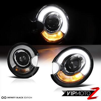 2007-2012 Mini Cooper s Clubman Convertible Black Halo Headlights Lamps R55 R56