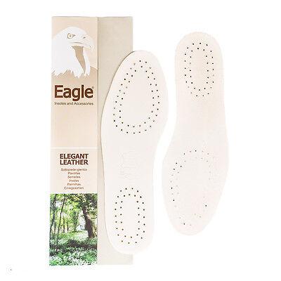 Solette da Scarpe in Cuoio Naturale - Sottopiede Eagle Uomo Donna da 35 a 46